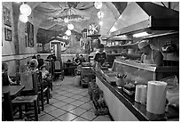 Small restaurant. Guadalajara, Jalisco, Mexico (black and white)