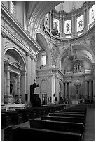 Interior of the Cathedral. Guadalajara, Jalisco, Mexico ( black and white)