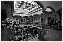 Historic Hotel Frances. Guadalajara, Jalisco, Mexico ( black and white)