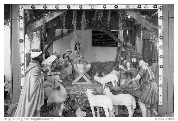 Black And White Nativity | New Calendar Template Site