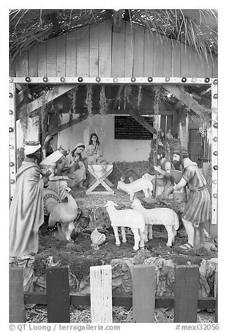 Nativity, Tlaquepaque. Jalisco, Mexico (black and white)