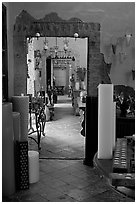 Corridor in art gallery, Tlaquepaque. Jalisco, Mexico (black and white)