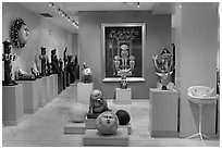 Art gallery featuring works by Bustamante, Tlaquepaque. Jalisco, Mexico ( black and white)