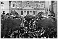 Crowds on Plaza Tapatia. Guadalajara, Jalisco, Mexico (black and white)