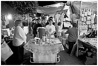 Mobile food vendor and craft night market, Tlaquepaque. Jalisco, Mexico ( black and white)
