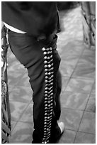 Detail of pants of a mariachi musician , Tlaquepaque. Jalisco, Mexico (black and white)