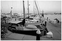 Marina, Nuevo Vallarta, Nayarit. Jalisco, Mexico (black and white)