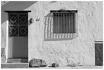 Door and window, Puerto Vallarta, Jalisco. Jalisco, Mexico (black and white)