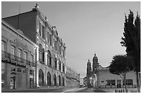 Teatro Calderon at dawn. Zacatecas, Mexico (black and white)