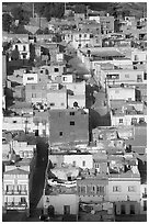 Houses and Cajaon de Garcia Rojas. Zacatecas, Mexico ( black and white)