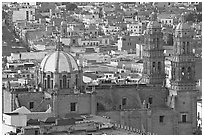 Catheral and rooftops. Zacatecas, Mexico ( black and white)