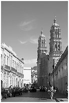 Cathedral, morning. Zacatecas, Mexico ( black and white)