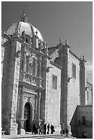 Side door of the churrigueresque cathedral. Zacatecas, Mexico (black and white)