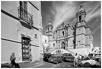 Santo Domingo Church, late morning. Zacatecas, Mexico ( black and white)