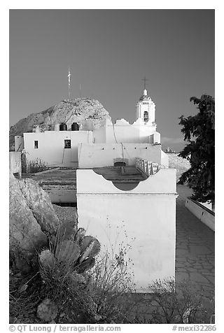 La Capilla de la Virgen del Patrocinio, atop Cerro de la Bufa. Zacatecas, Mexico (black and white)