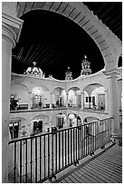 Inside courtyard of the Palacio de Gobernio. Zacatecas, Mexico ( black and white)