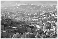 View of the town, morning. Zacatecas, Mexico (black and white)