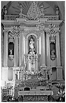 Main altar of Church Santo Domingo. Zacatecas, Mexico (black and white)