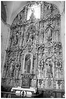 Guilded altar in Church Santo Domingo. Zacatecas, Mexico ( black and white)