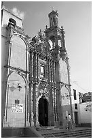 Church, late afternoon. Guanajuato, Mexico (black and white)
