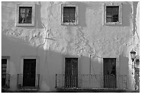 Pink facade. Guanajuato, Mexico ( black and white)