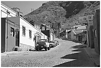Suburban street. Guanajuato, Mexico (black and white)