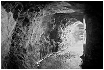 Shaft of La Valenciana mine. Guanajuato, Mexico (black and white)