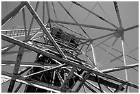 Tower above the main shaft of La Valenciana mine. Guanajuato, Mexico ( black and white)