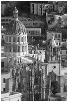 Church of la Compania de Jesus, early morning. Guanajuato, Mexico (black and white)