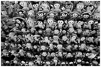 Traditional puppets. Guanajuato, Mexico (black and white)