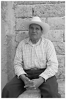 Man with cowboy hat. Mexico ( black and white)