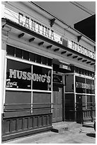 Cantina Hussong, oldest restaurant in the city, Ensenada. Baja California, Mexico ( black and white)