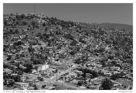 Collinas de Chapultepic, Ensenada. Baja California, Mexico (black and white)