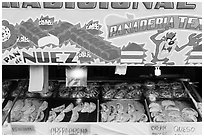 Bakery items. Baja California, Mexico (black and white)