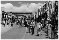 Outdoor market, La Bufadora. Baja California, Mexico ( black and white)