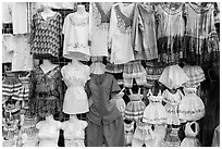 Dresses for sale, La Bufadora. Baja California, Mexico (black and white)