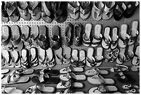 Mexican sandals. Baja California, Mexico (black and white)