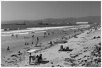 Beach south of harbor. Baja California, Mexico ( black and white)