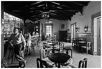 Bar and patrons, Riviera Del Pacifico, Ensenada. Baja California, Mexico ( black and white)