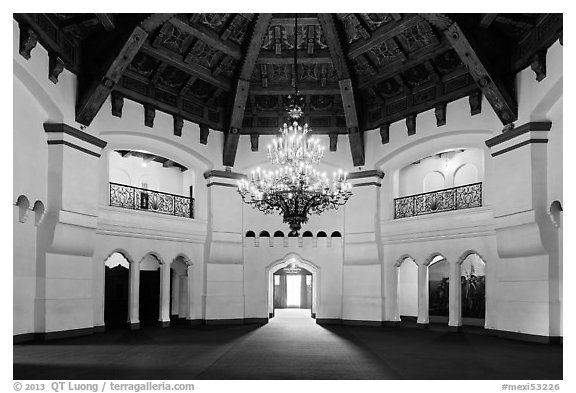 Former casino room, Riviera Del Pacifico, Ensenada. Baja California, Mexico (black and white)