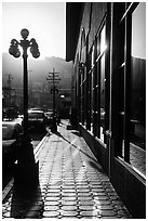 Downtown sidewalk, Ensenada. Baja California, Mexico ( black and white)