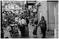 Women packing souvenirs for sale, Ensenada. Baja California, Mexico ( black and white)