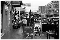 Main shopping street, Ensenada. Baja California, Mexico ( black and white)