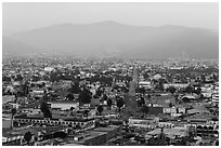 Ensenada seen from El Mirador. Baja California, Mexico (black and white)