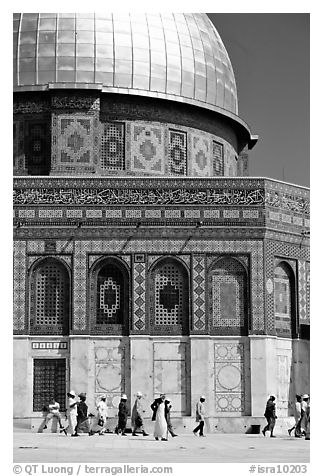 Dome of the Rock. Jerusalem, Israel (black and white)