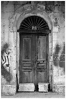 Door. Jerusalem, Israel (black and white)