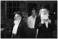 Orthodox Jews. Jerusalem, Israel (black and white)