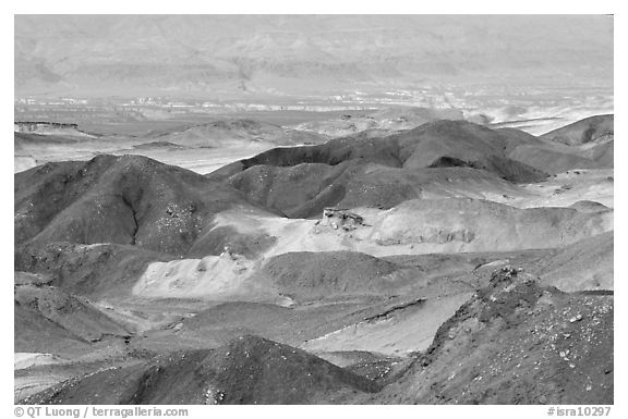 Eroded badlands near Eilat. Negev Desert, Israel