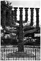 Menorah. Jerusalem, Israel (black and white)
