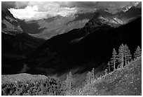 Val Veni,  Mont-Blanc range, Alps, Italy. (black and white)